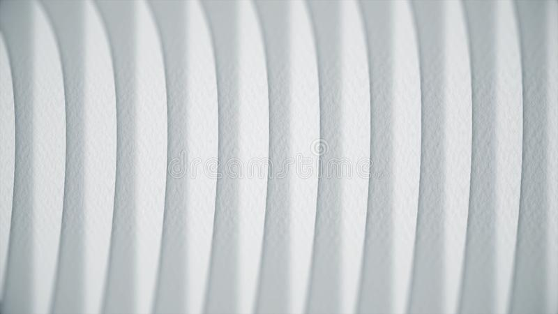 Wavy white lines on paper. Abstract animation of paper texture with lines. Curves turn into straight lines stock photography