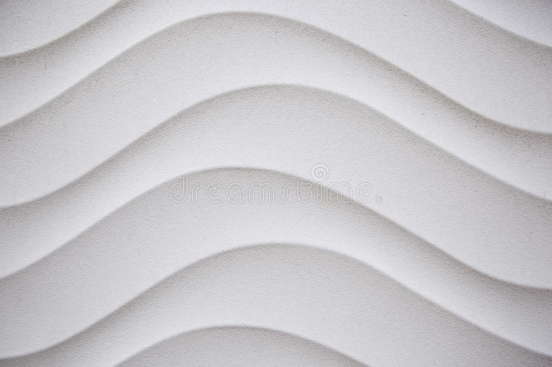 Wavy white wall. Detail of wavy white wall in the city of Logroño royalty free stock photography