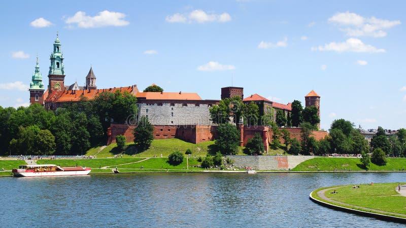 Wawel城堡。克拉科夫,波兰 库存照片