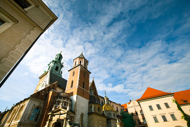 Wawel城堡在克拉科夫,波兰 免版税库存照片
