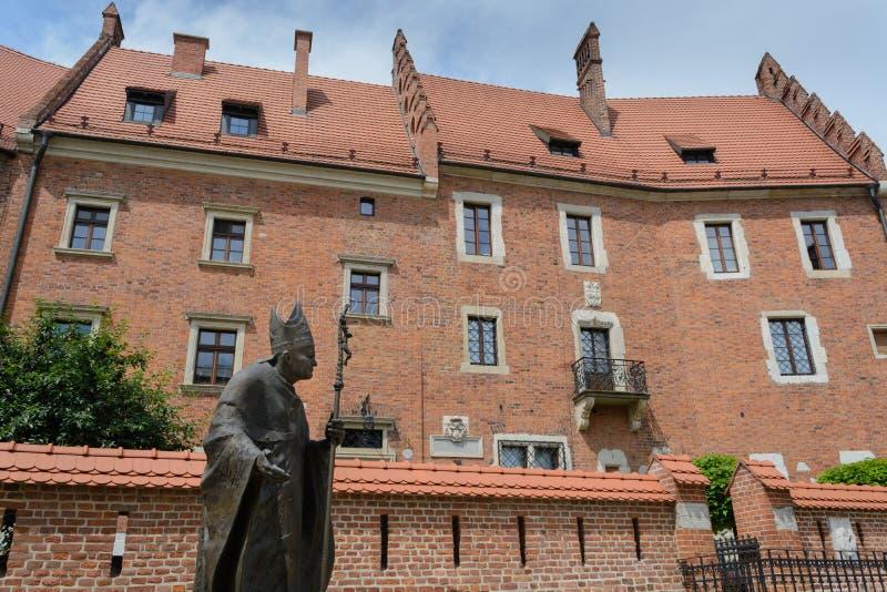 Wawel复合体在克拉科夫 免版税库存图片