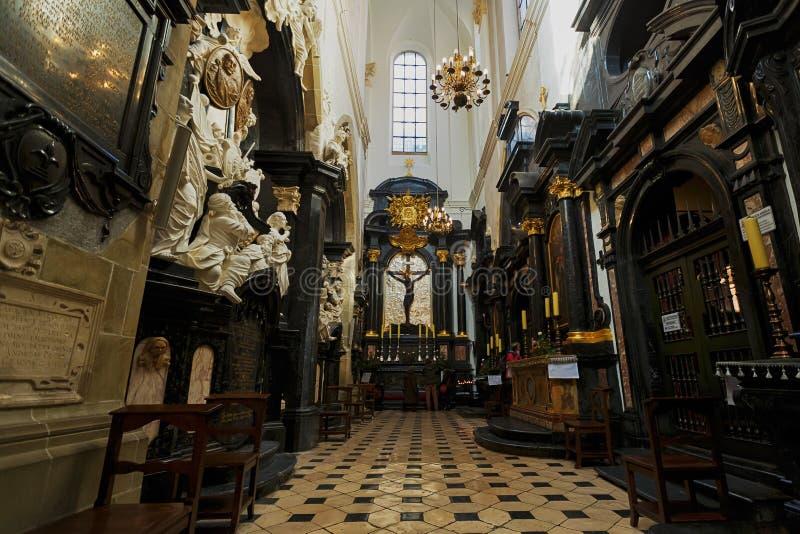 Wawel大教堂, Wawel城堡复合体的部分 库存图片