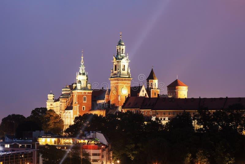Wawel皇家城堡和大教堂-克拉科夫,波兰 免版税库存照片