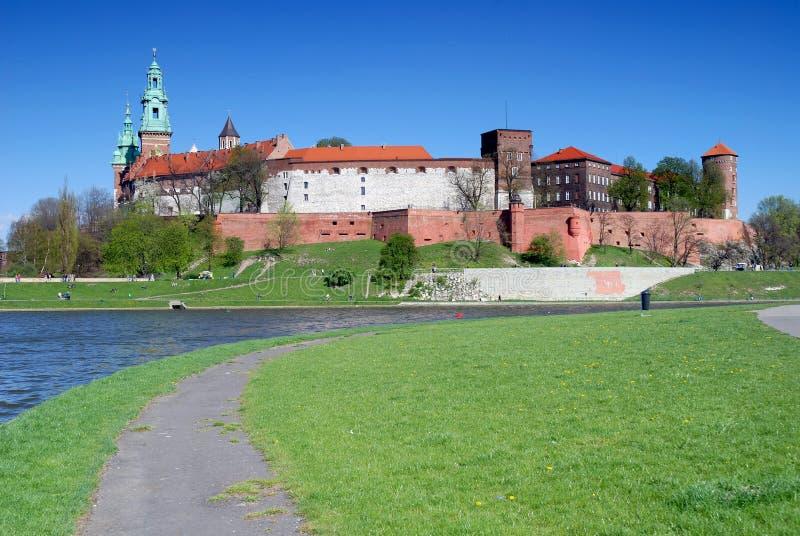 Wawel - castelo real em Krakow imagem de stock royalty free