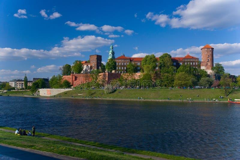 Wawel - castillo real en Cracovia, Polonia imagenes de archivo