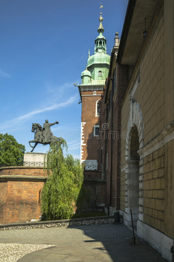 Wawel castle entrance stock image