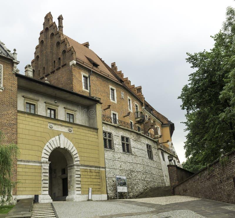 Wawel castle , entrance stock photo