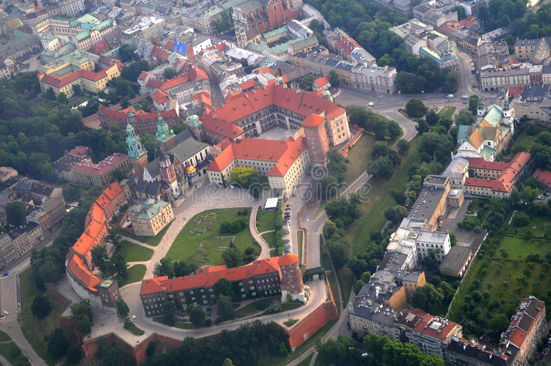 Wawel Castle, in Krakow, Poland royalty free stock images