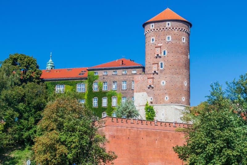 Wawel castle in Krakow, Polan royalty free stock photo