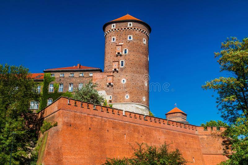 Wawel castle in Krakow, Polan royalty free stock photos