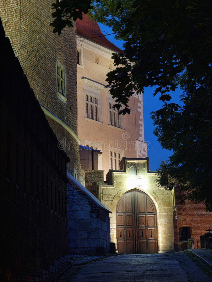 Download Wawel Castle by night stock image. Image of cathedral - 10509481