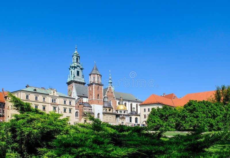 Wawel Castle square in Krakow. View of Wawel Castle square in Krakow Poland stock photography