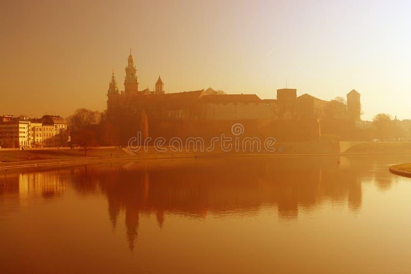 Wawel Castle during sunrise royalty free stock photo