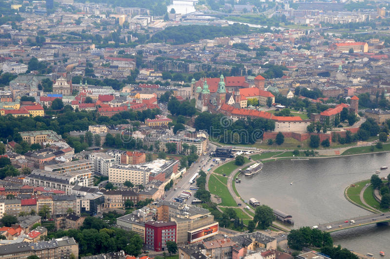 Wawel Castle, Vistula river in Krakow, Poland royalty free stock photo