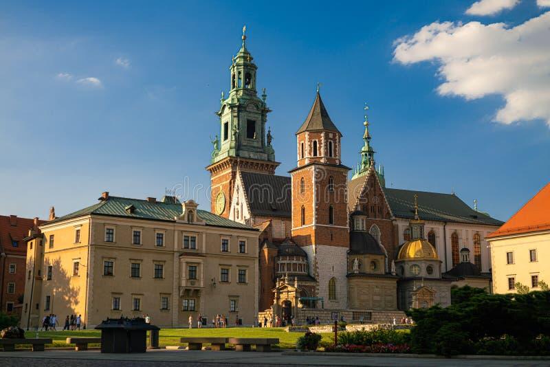 Wawel Cathedral, inside the Wawel Castle in Krakow, Poland.  royalty free stock image