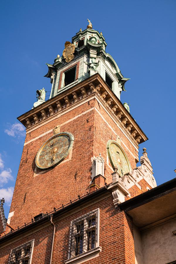 Wawel Cathedral, inside the Wawel Castle in Krakow, Poland.  stock photography