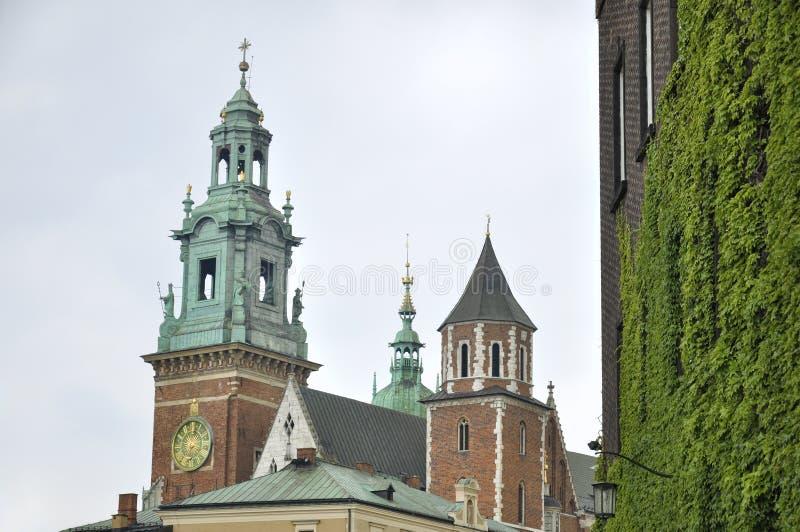 Wawel domkyrka och slott, Krakow, Polen royaltyfri foto