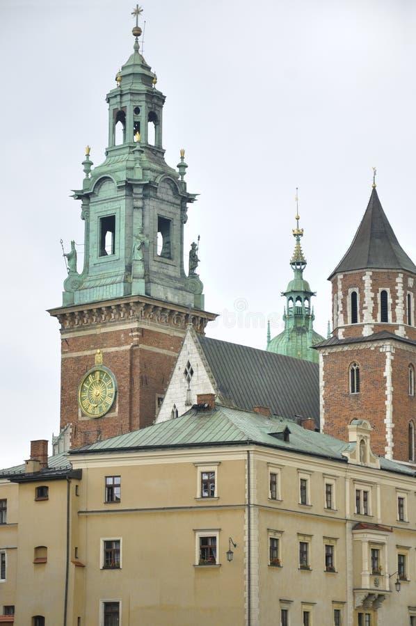 Wawel domkyrka och slott, Krakow, Polen arkivfoto