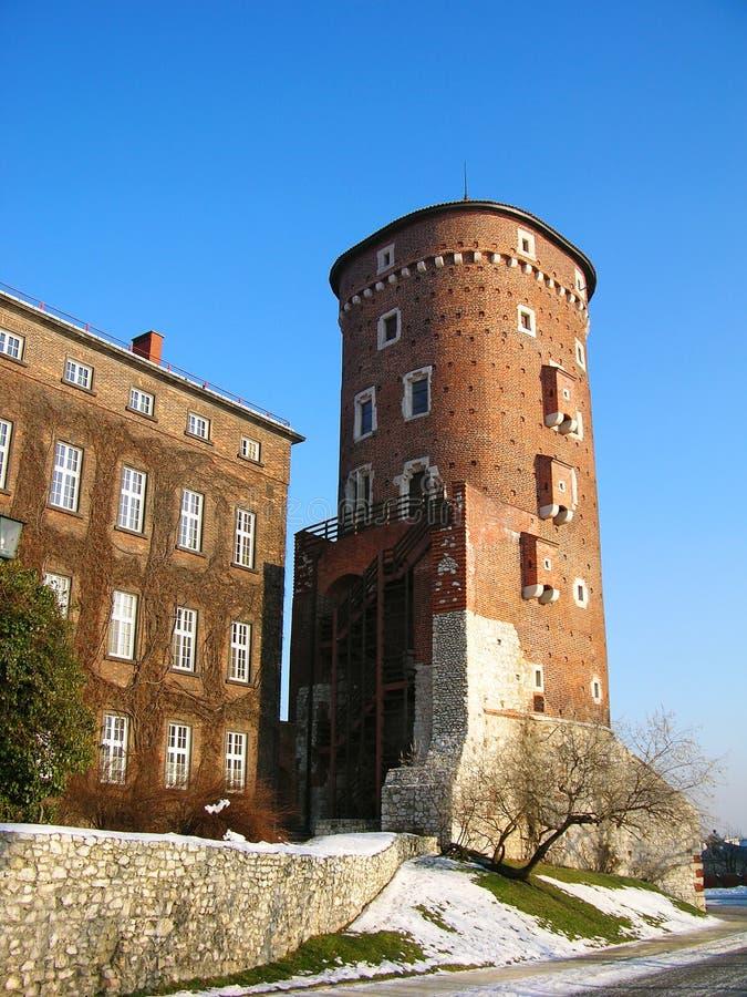 Wawel königliches Schloss in Krakau lizenzfreie stockbilder