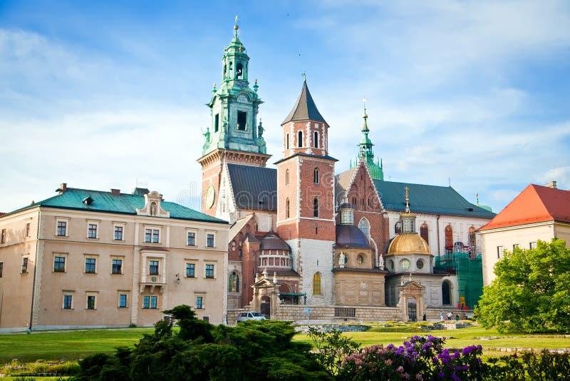 Wawel in Krakau lizenzfreie stockfotos