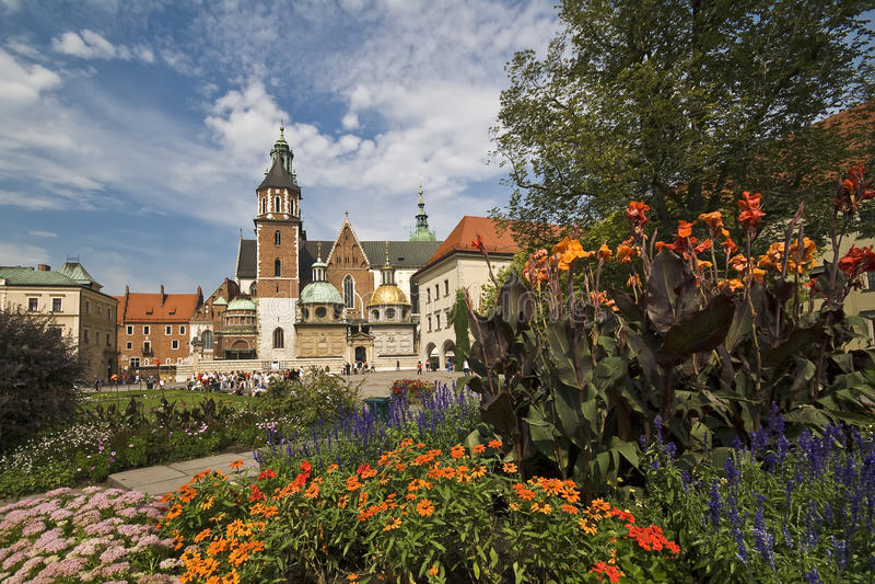 wawel krakow Польши замока стоковое изображение rf