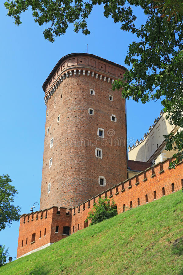 WAWEL royal castle in Cracow, Poland royalty free stock photo