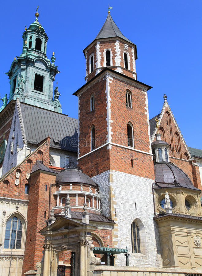 WAWEL royal castle in Cracow, Poland stock images