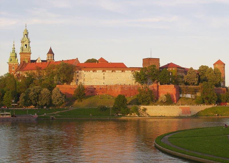 Wawel Schloss in Krakau stockbild