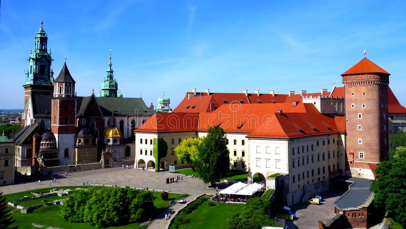 Wawel-Schloss, Krakau stockbild