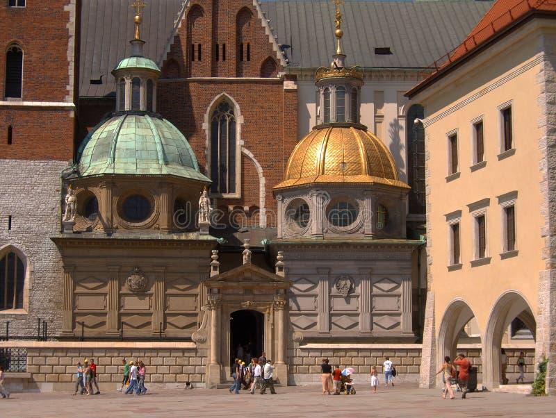 Wawel Schloss in Krakau, Polen lizenzfreie stockbilder