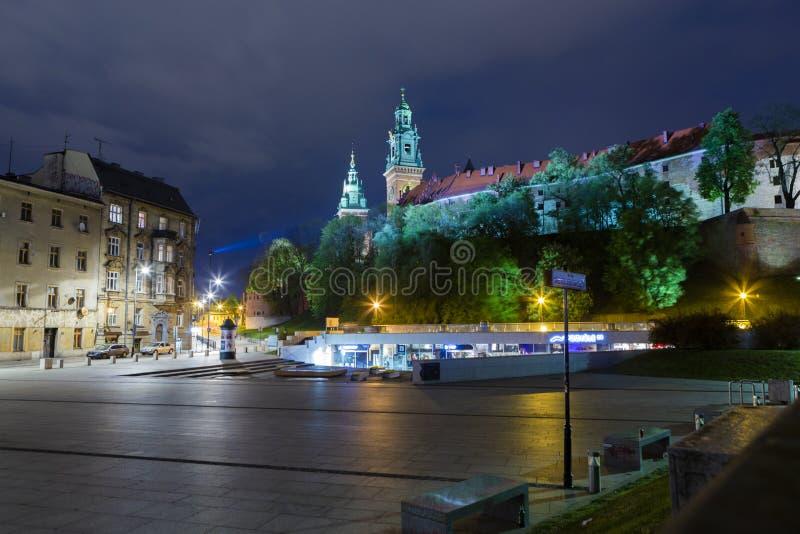 Wawel-Schlosskomplex von Krakau lizenzfreies stockfoto