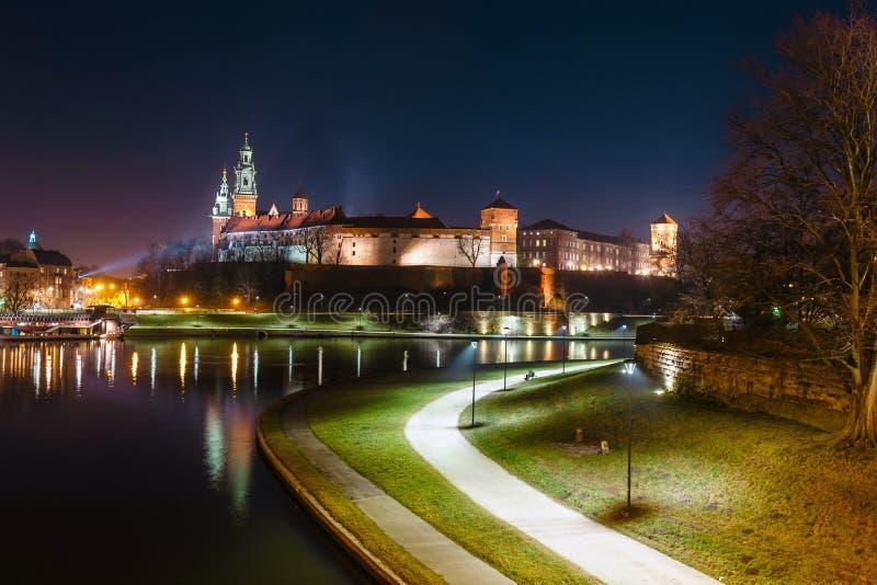 Wawel slott som sett fr royaltyfri bild