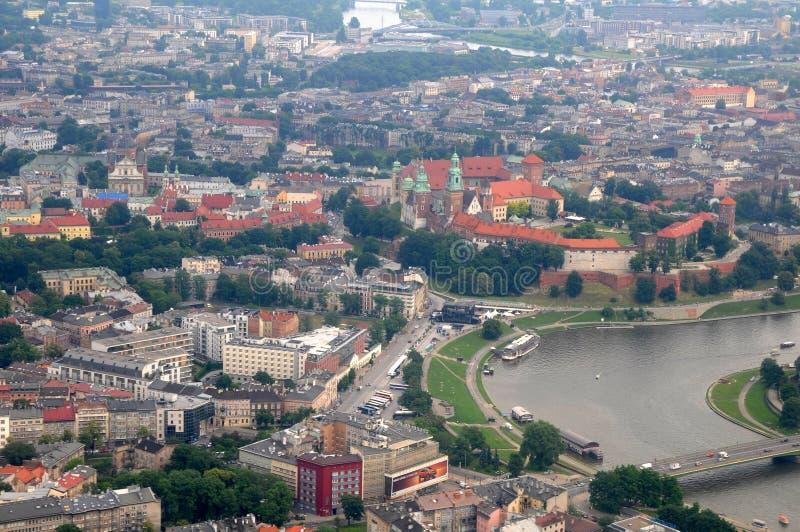 Wawel slott, Vistula River i Krakow, Polen royaltyfri foto