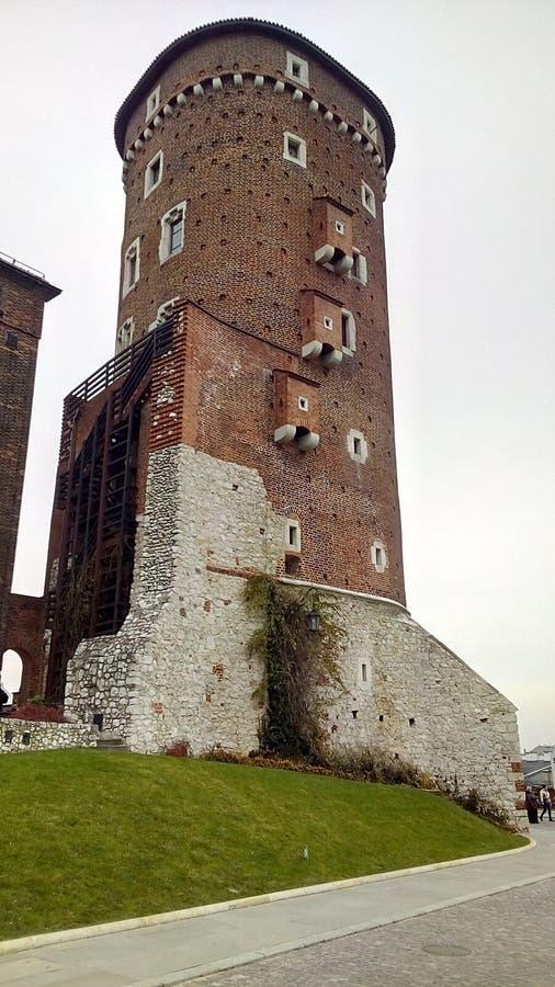 WAWEL-TOWER SANDOMIRSKA fotografia stock libera da diritti