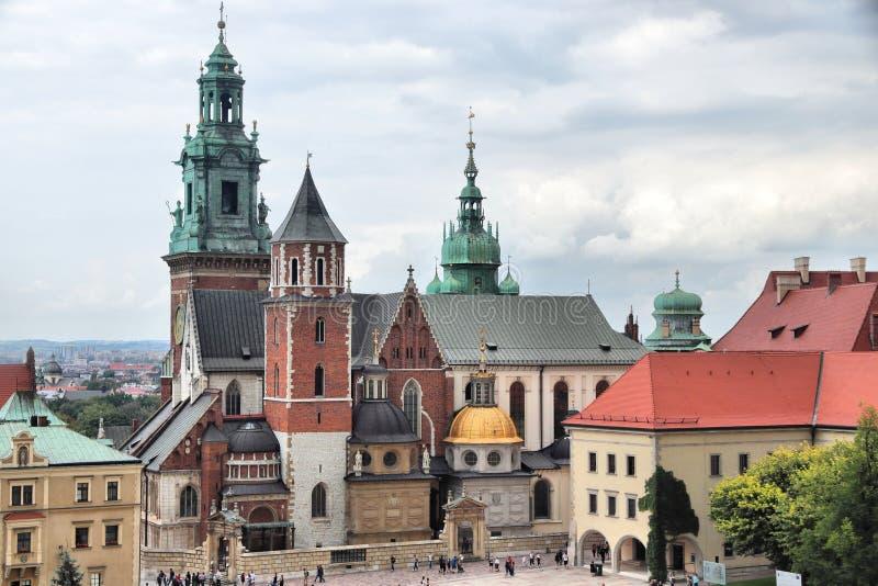 Wawelkathedraal, Krakau stock fotografie