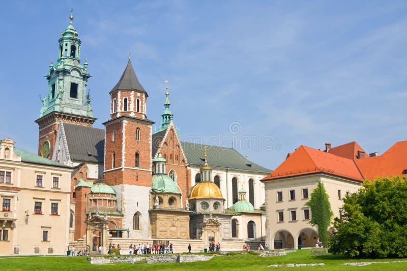 Wawelkathedraal, Krakau stock afbeelding