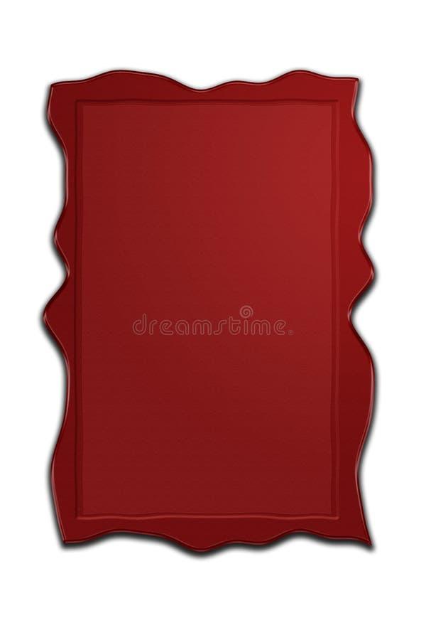 Wax. One rectangular red wax seal vector illustration