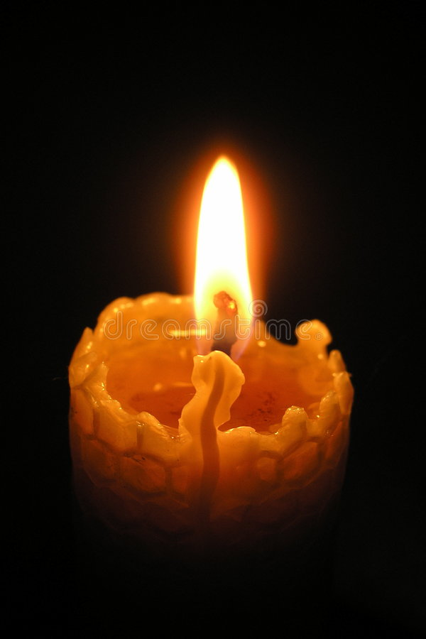Wax candle royalty free stock photos