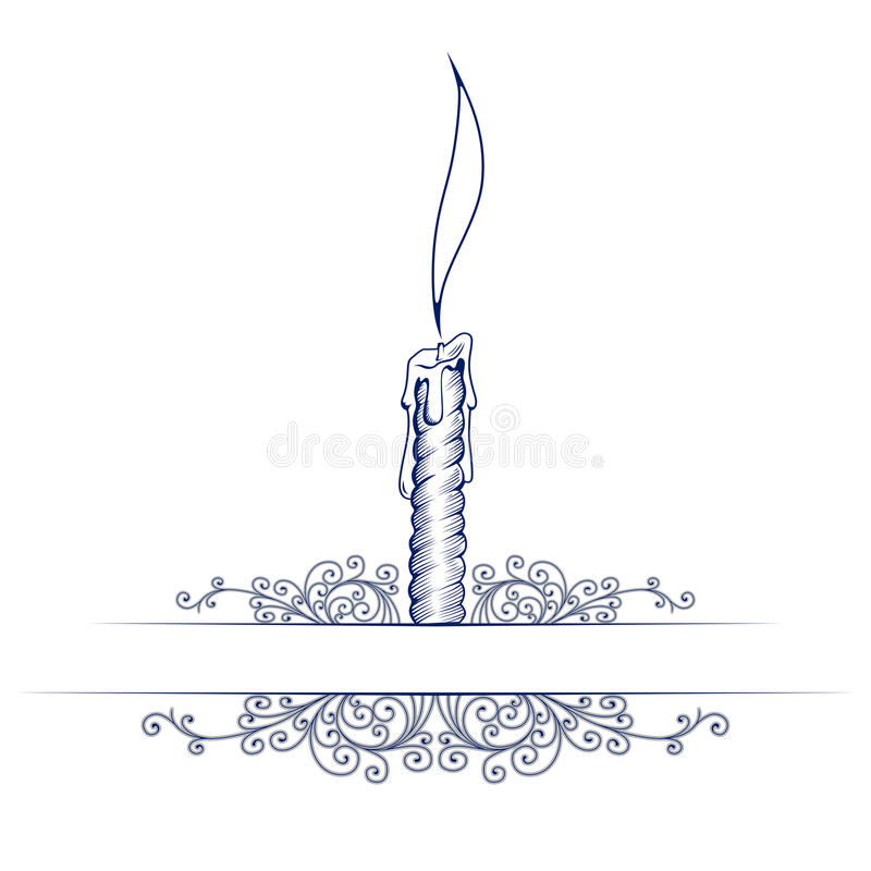 Wax candle note template stock illustration