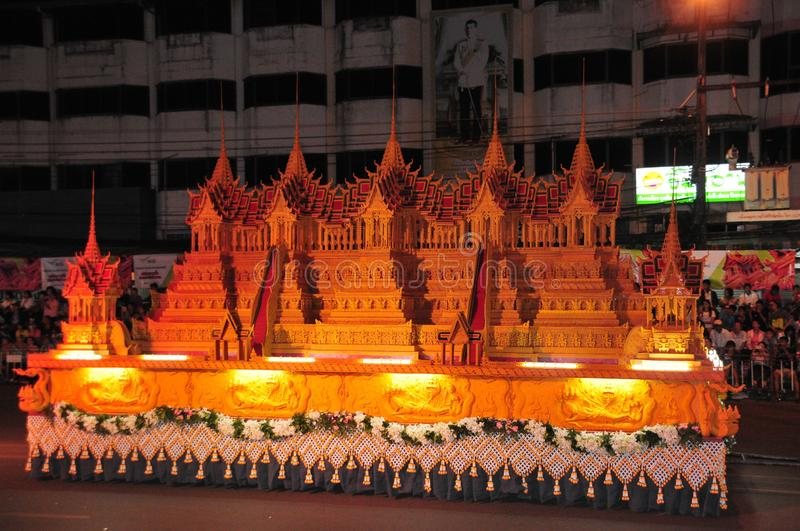 Wax Castle Festival is held annually at the end of the Buddhist Lent. The event are. Sakon nakhon ,Thailand – October 23,2018 : Wax Castle Festival is stock image