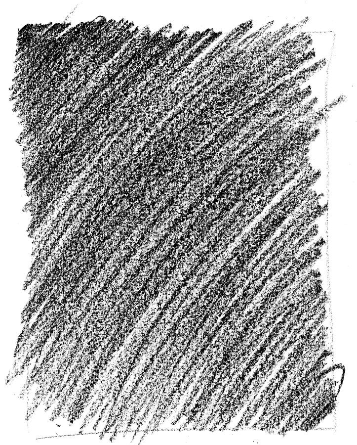 Wax Crayon Texture. Black Wax Crayon rubbing texture against a white background