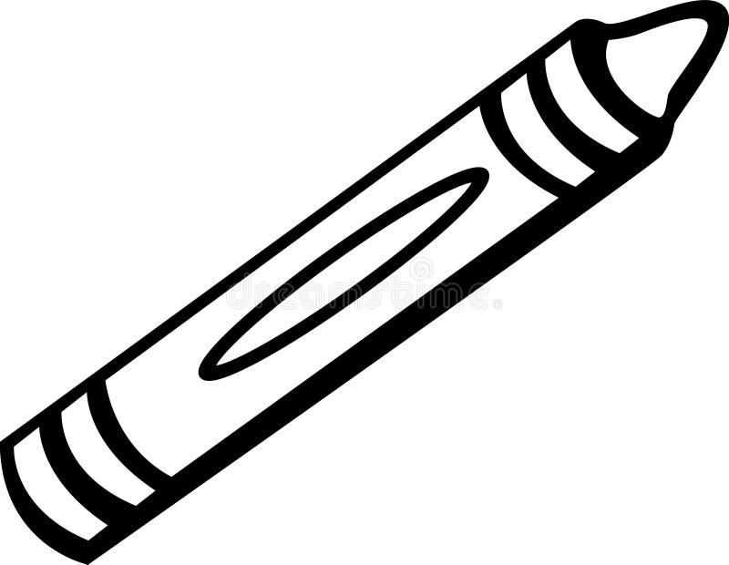wax crayon vector illustration royalty free illustration