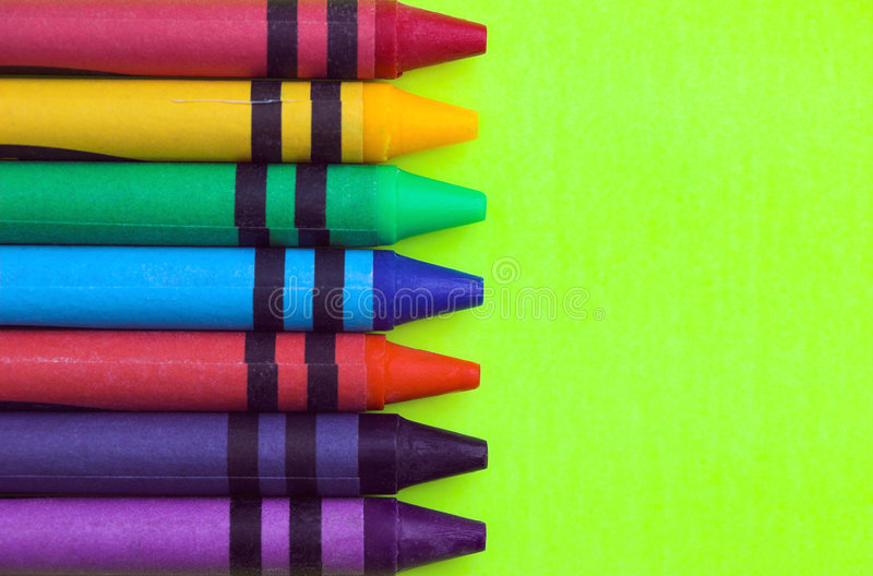 Download Wax Crayons stock photo. Image of objects, rainbow, blue - 4466786