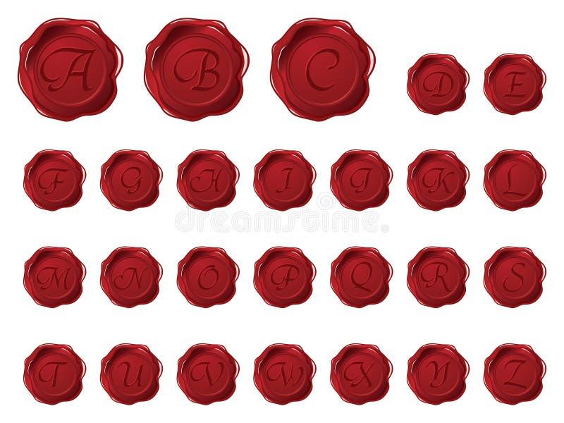 wax för stilsortsmonogramsskyddsremsa royaltyfri illustrationer
