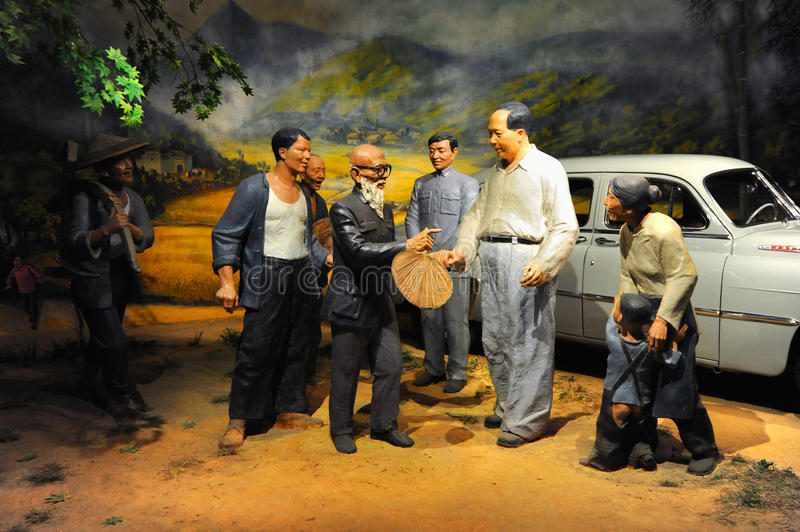 Download Wax figure of chairman Mao editorial photo. Image of communist - 21843061