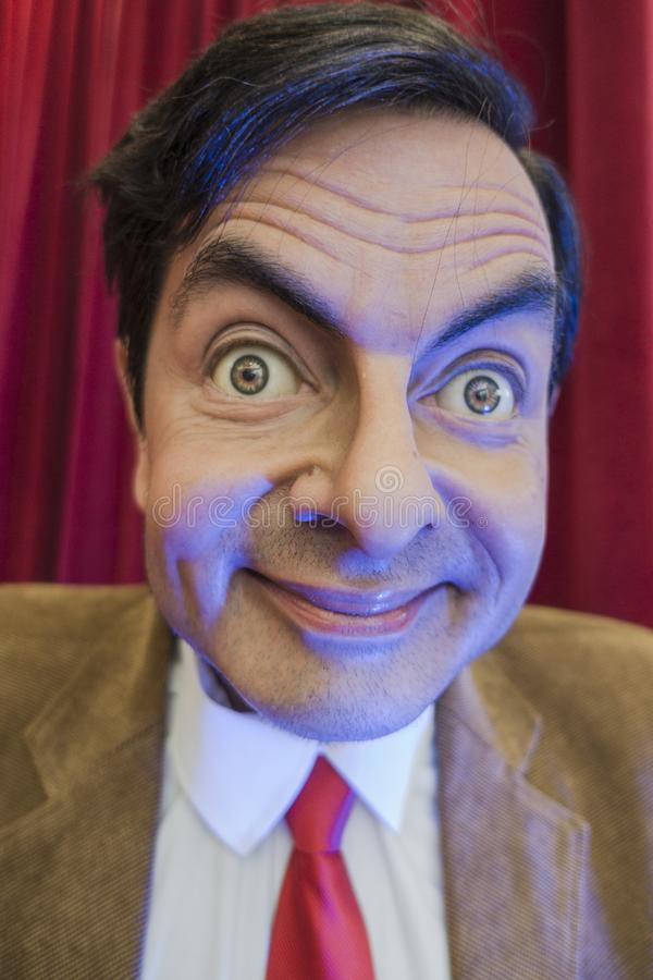 Mr. Bean wax figure royalty free stock image