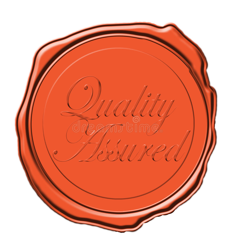 wax foki jakości royalty ilustracja