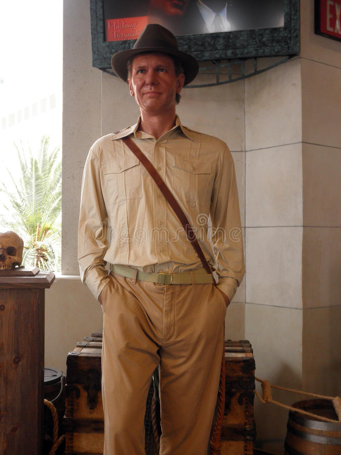 Wax Indiana Jones at Madame Tussauds royalty free stock images