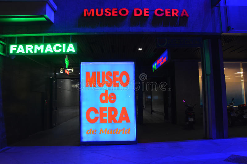 Wax museum in Madrid royalty free stock photos