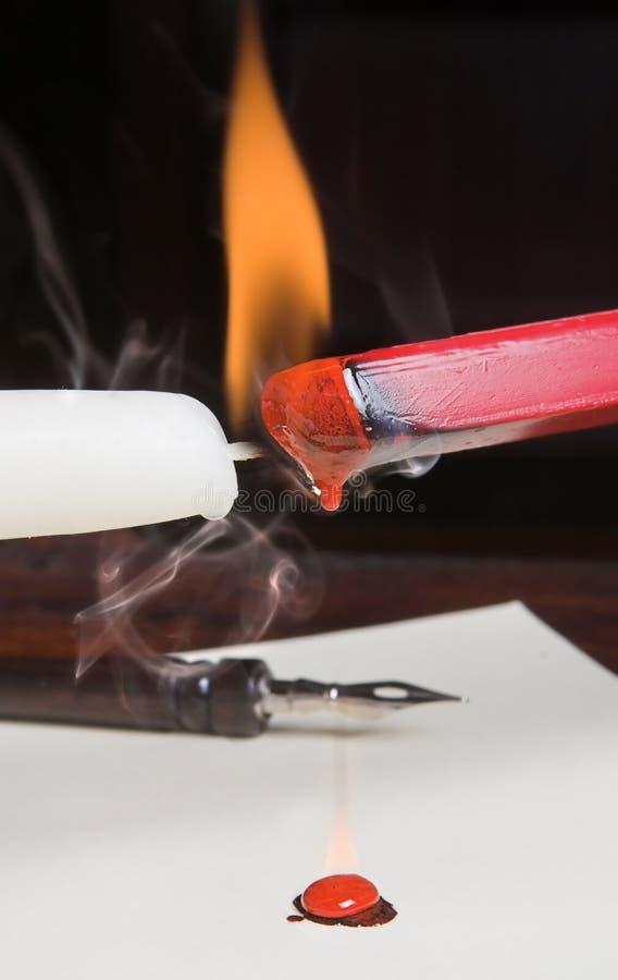 wax płonący zdjęcia stock